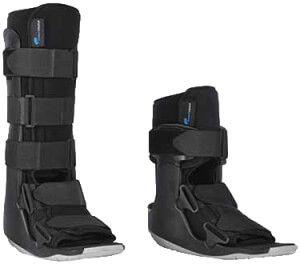Walking boot for after surgery or a flare